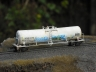 Funnel Flow Tank Car with graffiti