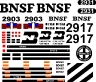 BNSF GP39E Decals