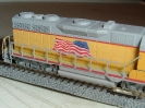 Custom Union Pacific GP35 With Flag