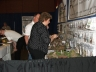 Vendor booths and products.