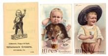 HIRES ROOTBEER Trade Card Group 3 Diff C1890 Adv Trade Cards