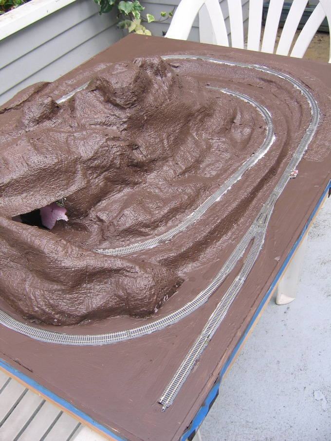My layout, now painted; ground-cover to follow